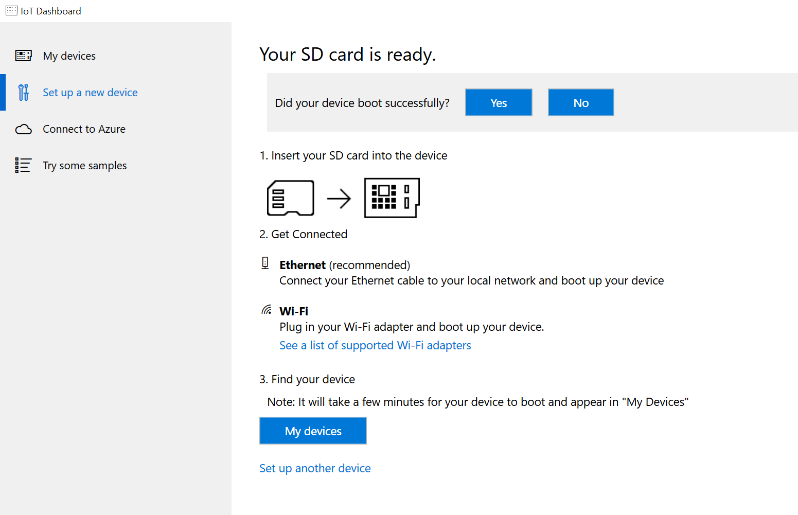 Beginning IoT - Installing Windows 10 IoT Core on a